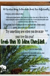 10 Ways to Decorate Your Tree Differently Checklis