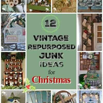 12 Vintage Repurposed Junk Ideas for Christmas