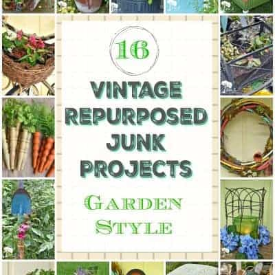 16 Vintage Repurposed Junk Projects with Garden Style