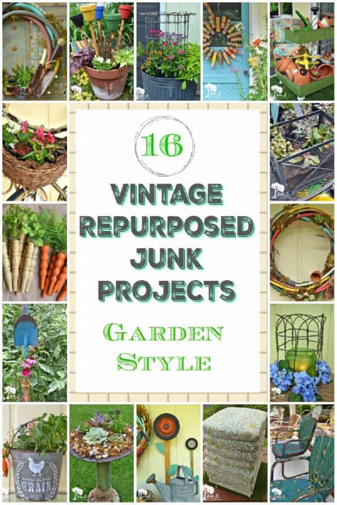 repurposed vintage junk projects for the garden