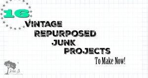 repurposed vintage junk project ideas