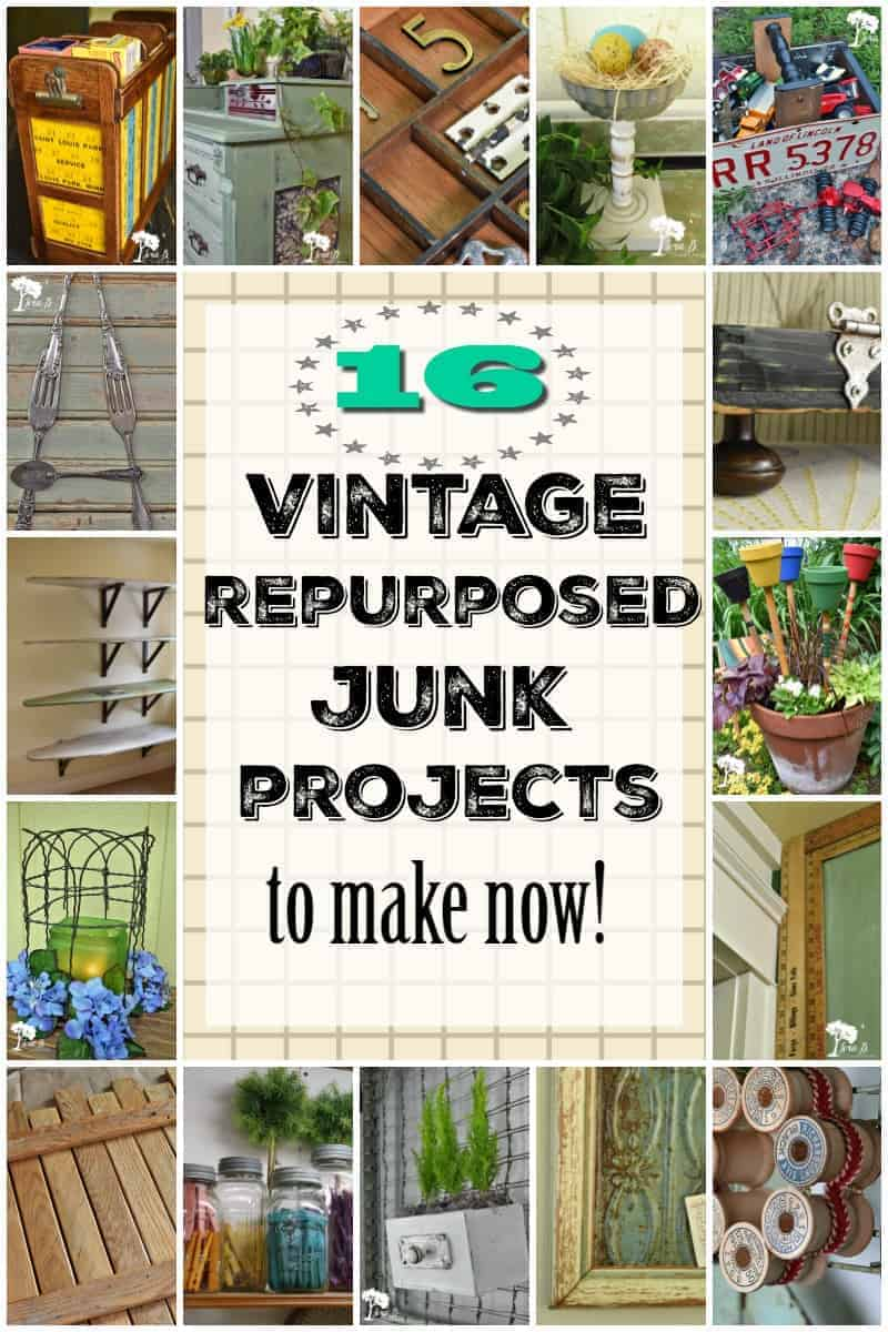 repurposed vintage junk project ideas