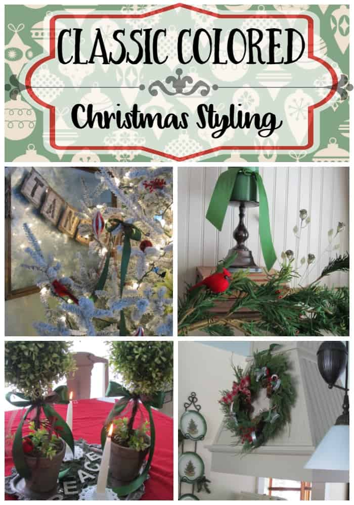 Classic Colored Christmas Styling