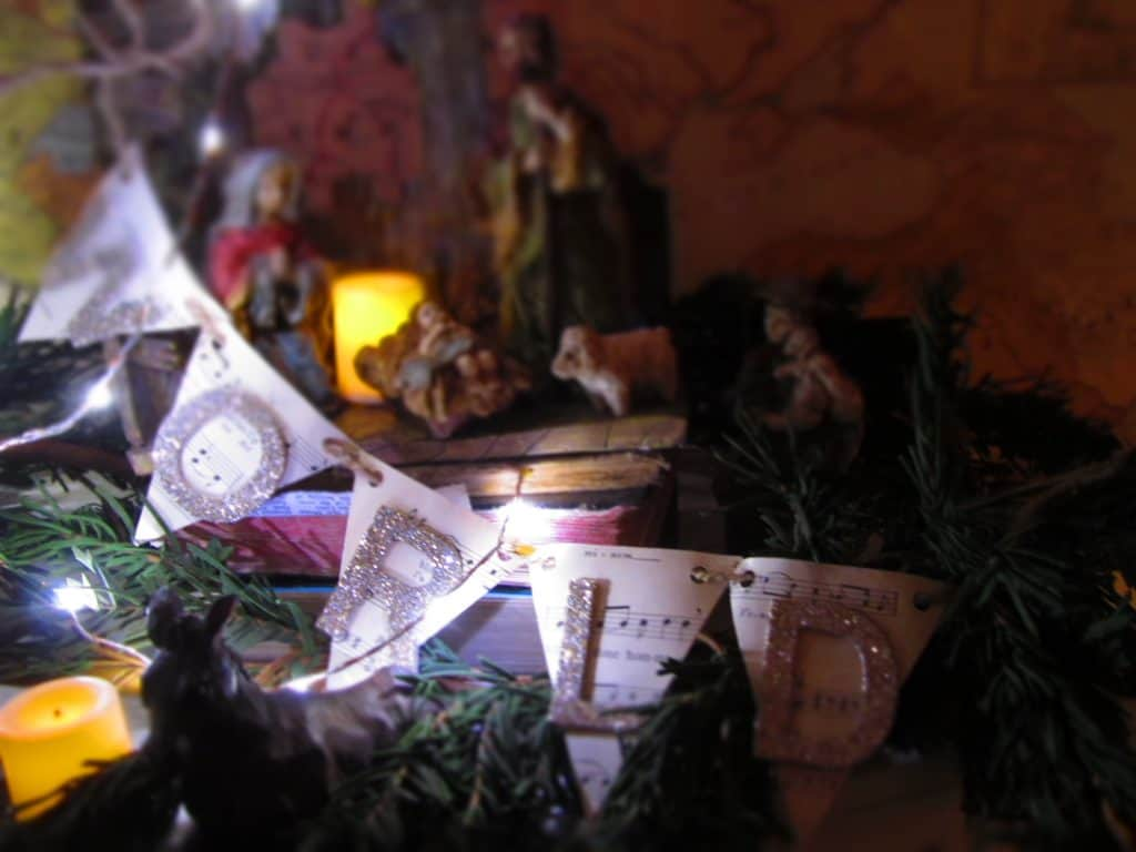 Manger Scene at Night