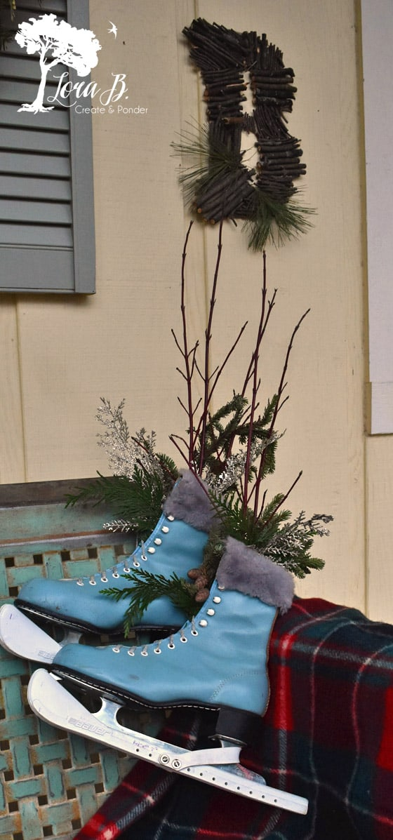 Winter porch decor