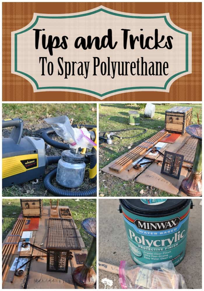 Tips and tricks for spraying polyurethane