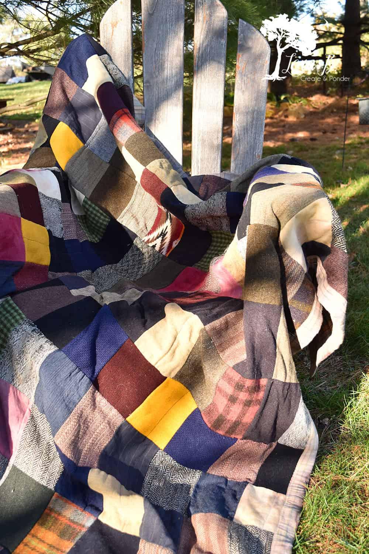 Men's Suit Patchwork Quilts