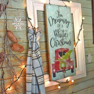 Bedspring Card Display and a Christmas Entry