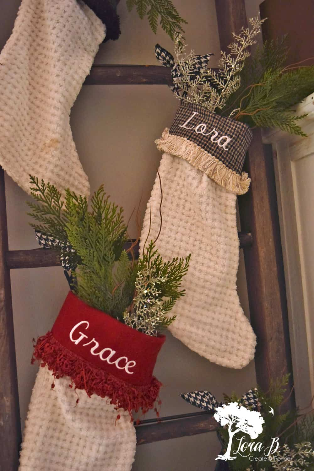Got a Ladder? How about Stockings? - Lora B. Create & Ponder