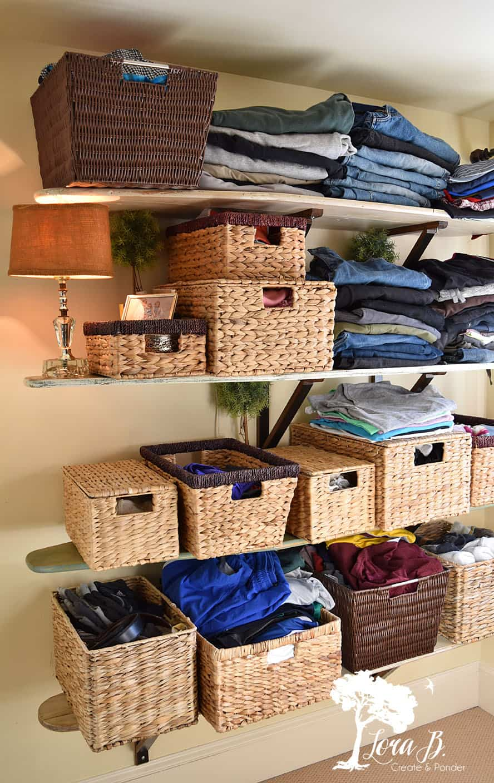 Ironing Board Shelves and Closet Refresh