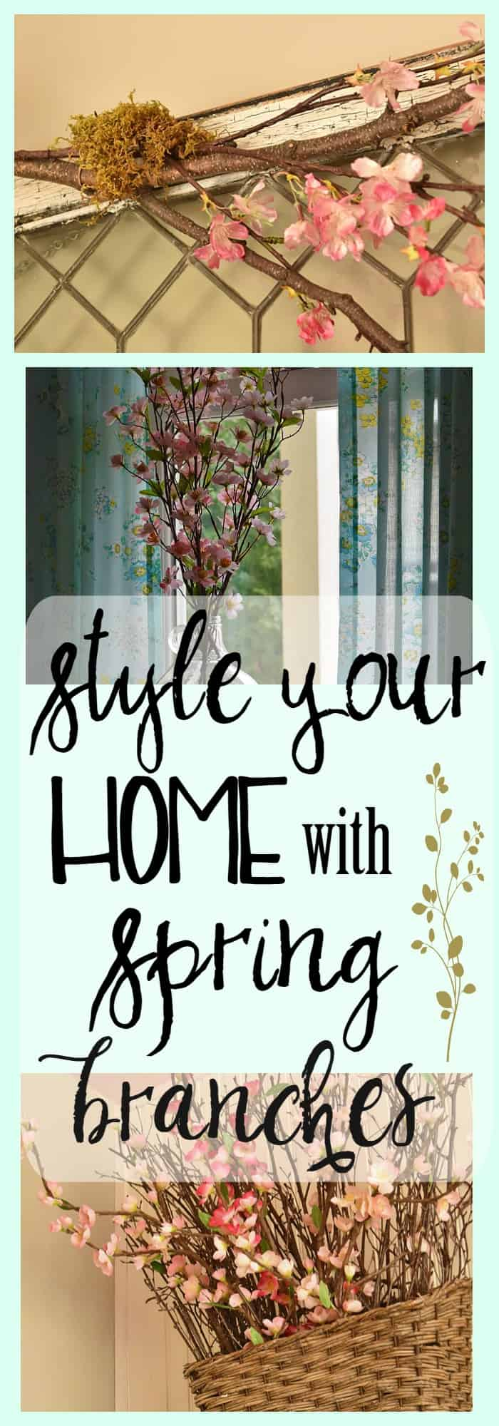 Style Your Home with Spring Branches! Here are some ideas: