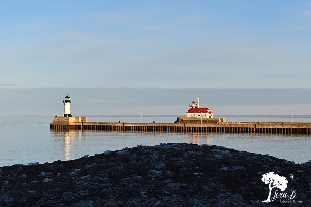 Lighthouses in Canal Park, Duluth MN