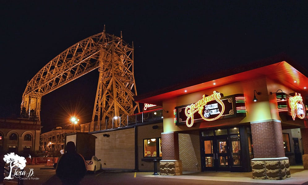 Grandma's bar and grill by the Lift Bridge, Duluth MN