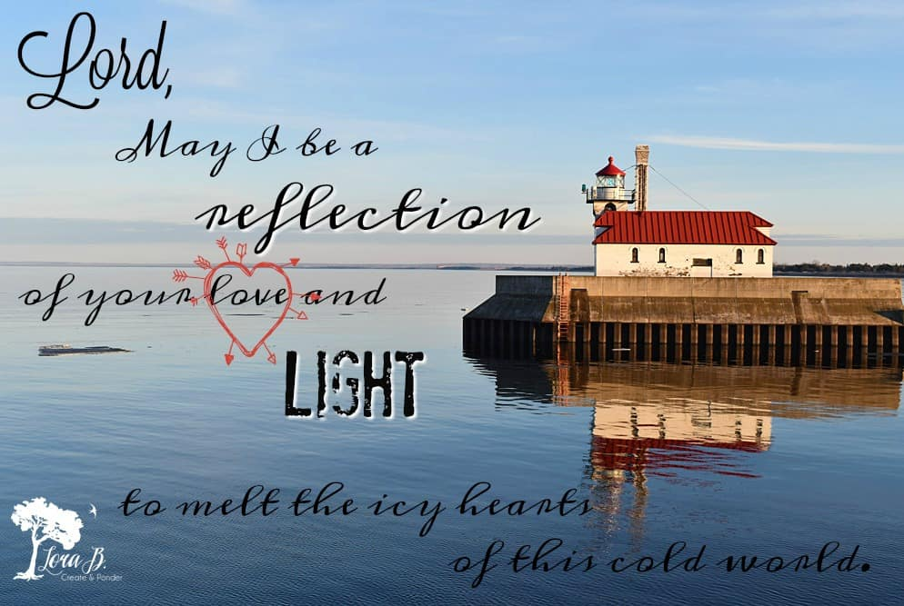 Lighthouse graphic with prayer