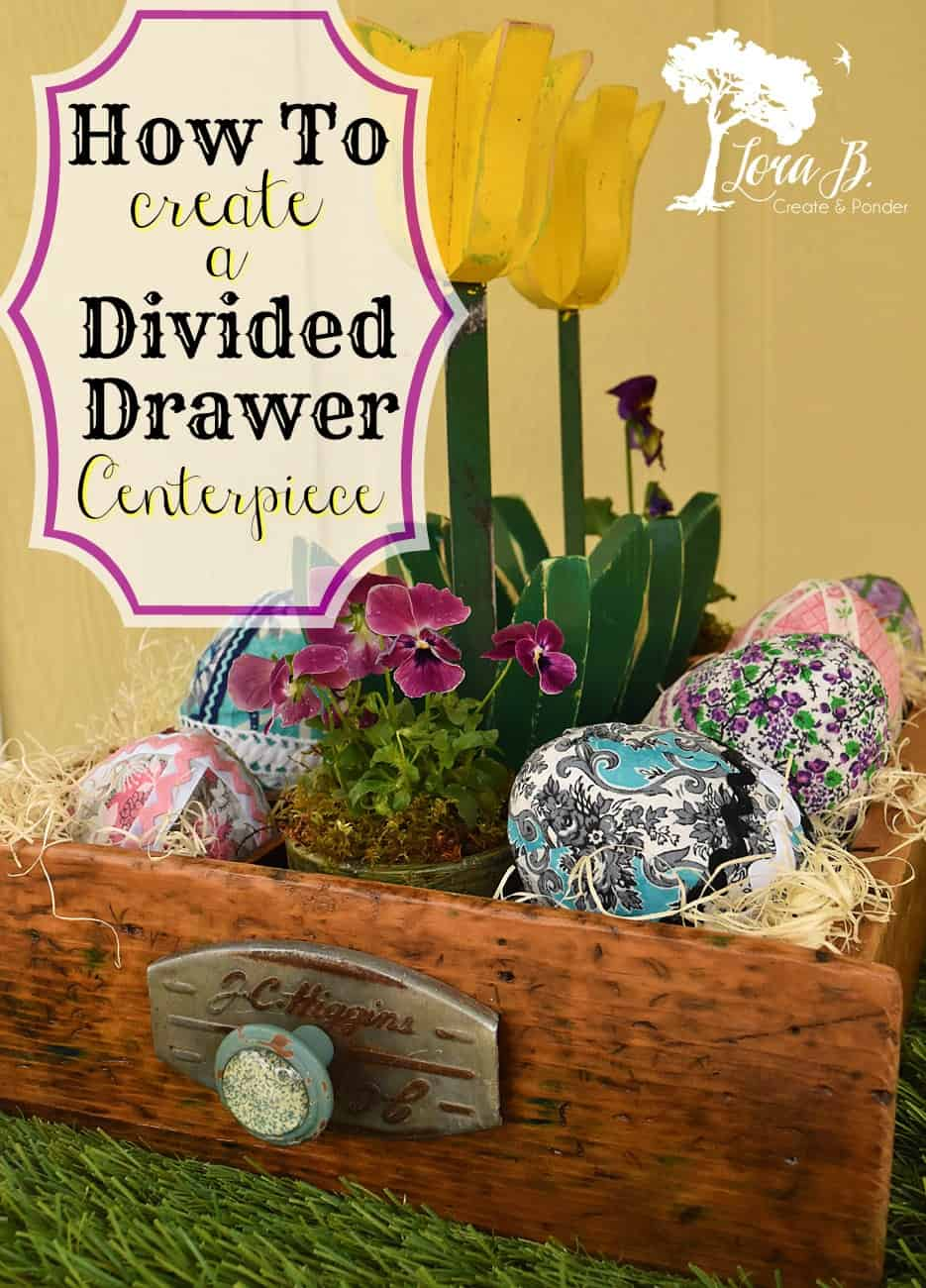Divided drawer centerpiece Pin