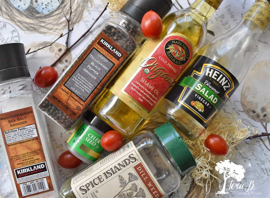 Seasonings and vinegars to add to egg salad