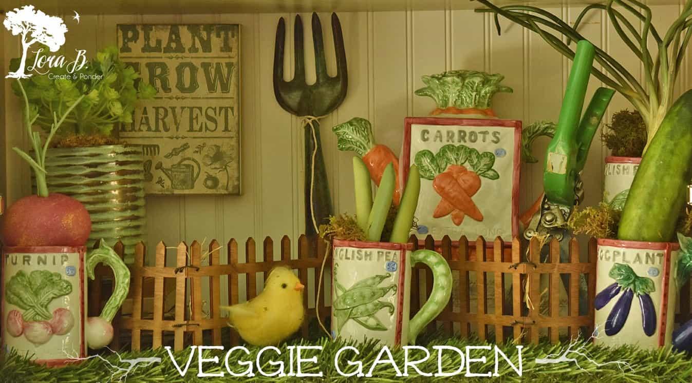 veggie garden vignette