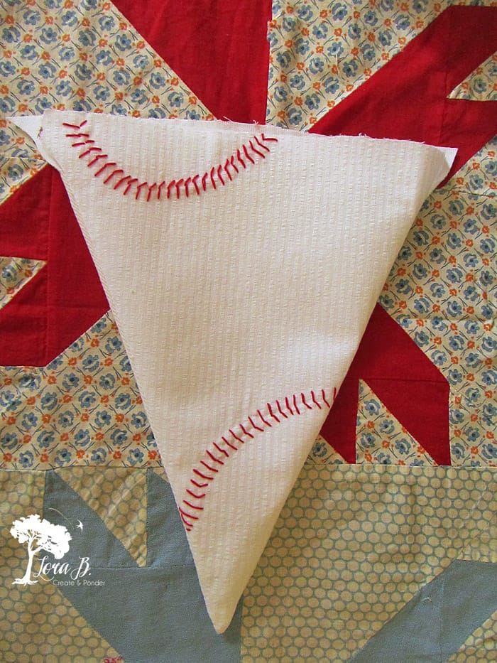 Baseball themed triangle.