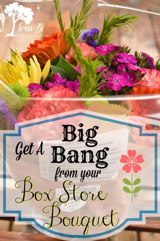 Big bang from box store bouquet pin