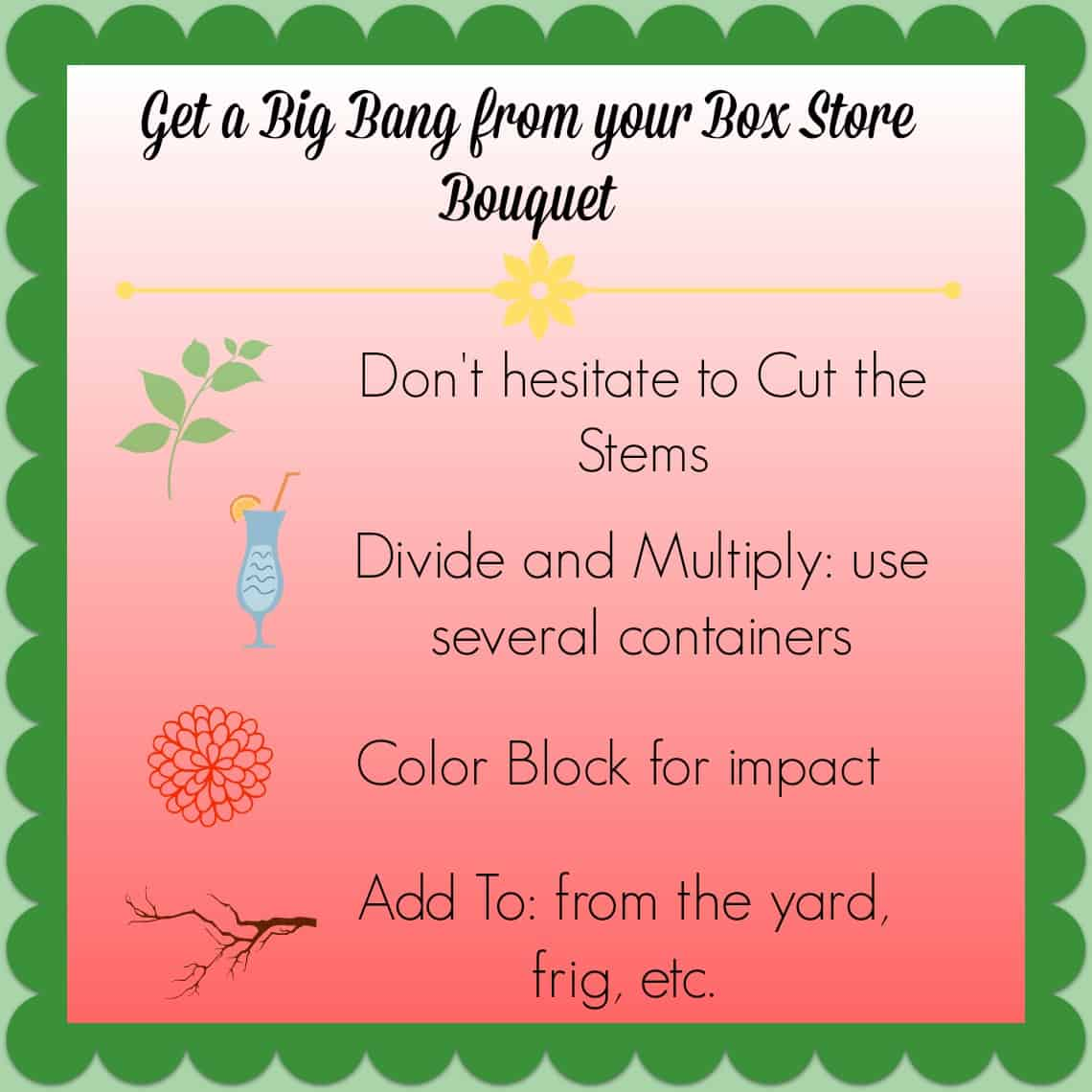 Tips for maximizing a grocery store bouquet