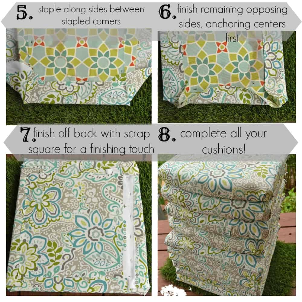 step by step stapled seat cushion instructions