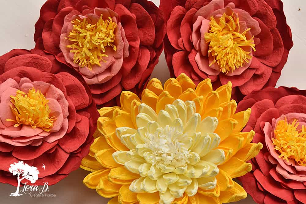 Crepe paper flowers.