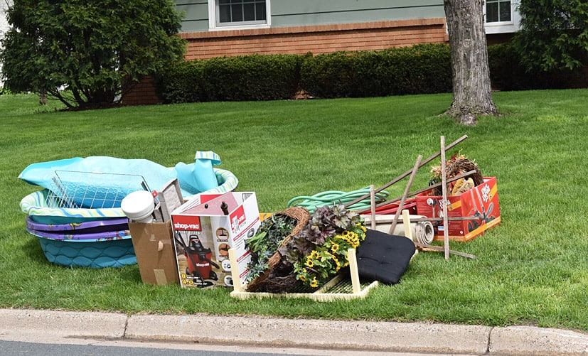 curbside junking pile