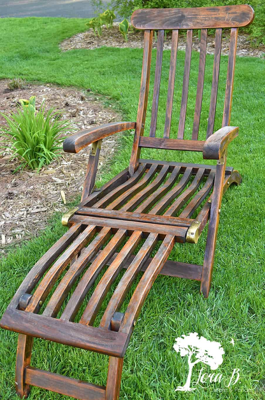 Teak lounge chair.