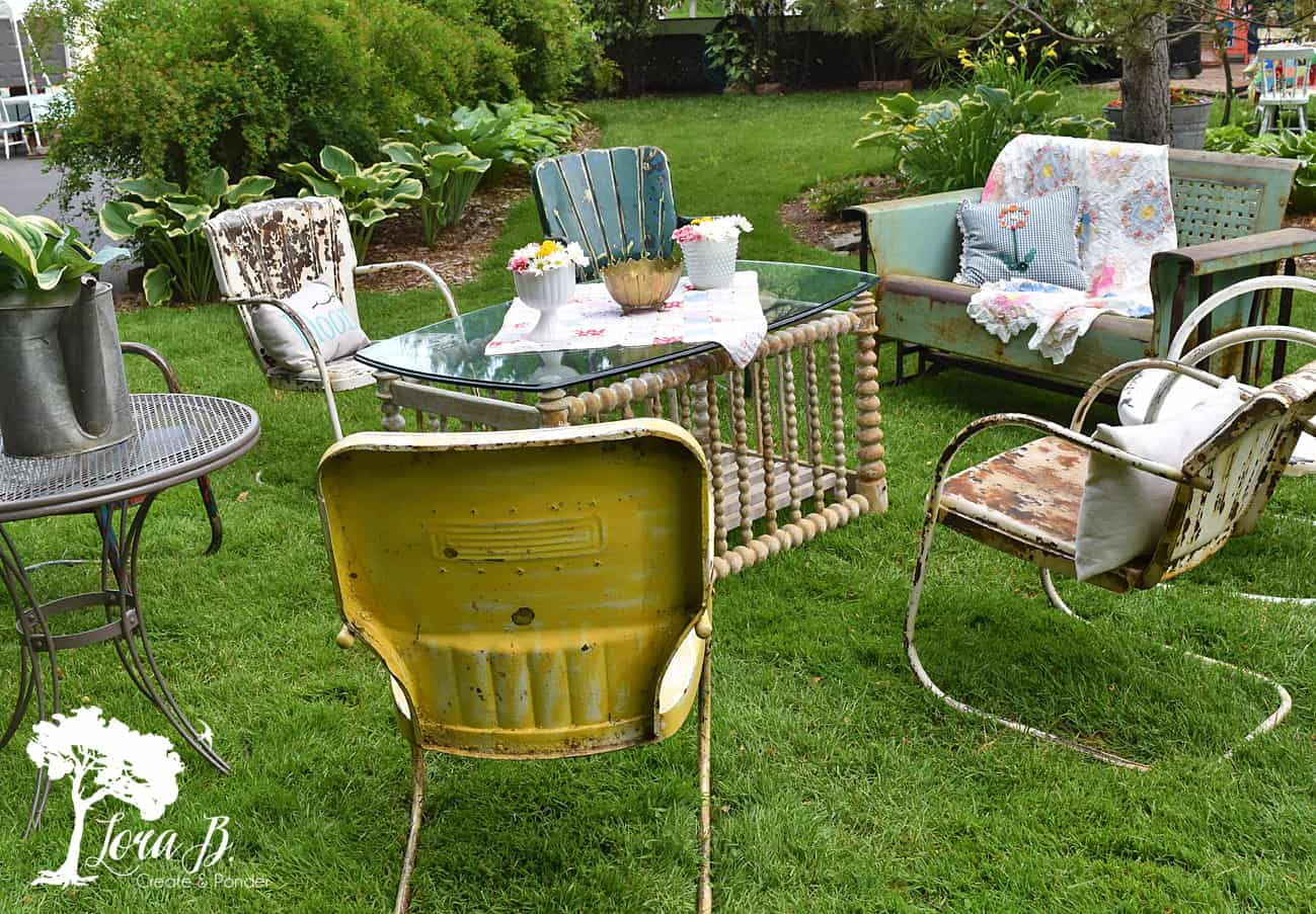 Vintage Metal Lawn Chairs