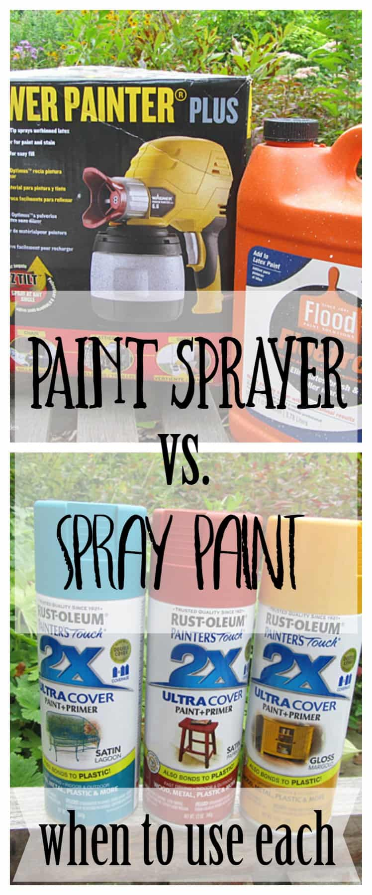 Paint sprayer vs. Spray paint