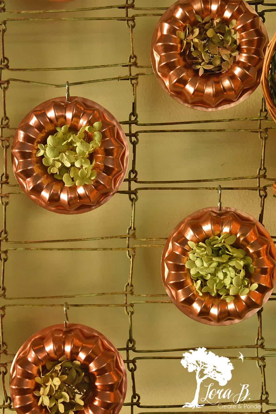 Copper jello molds