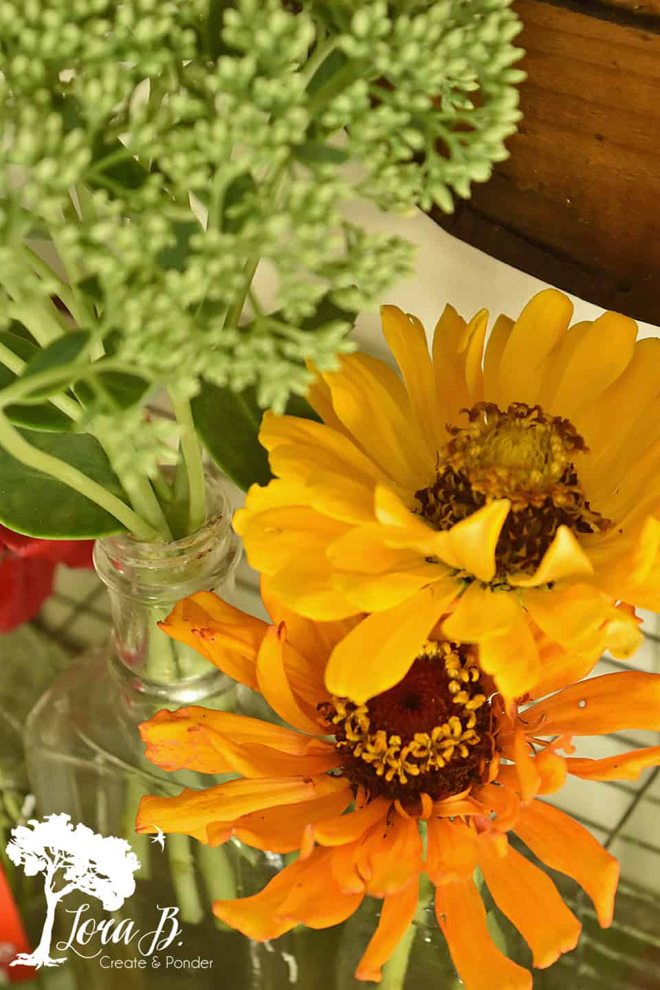 Yellow-toned zinnias