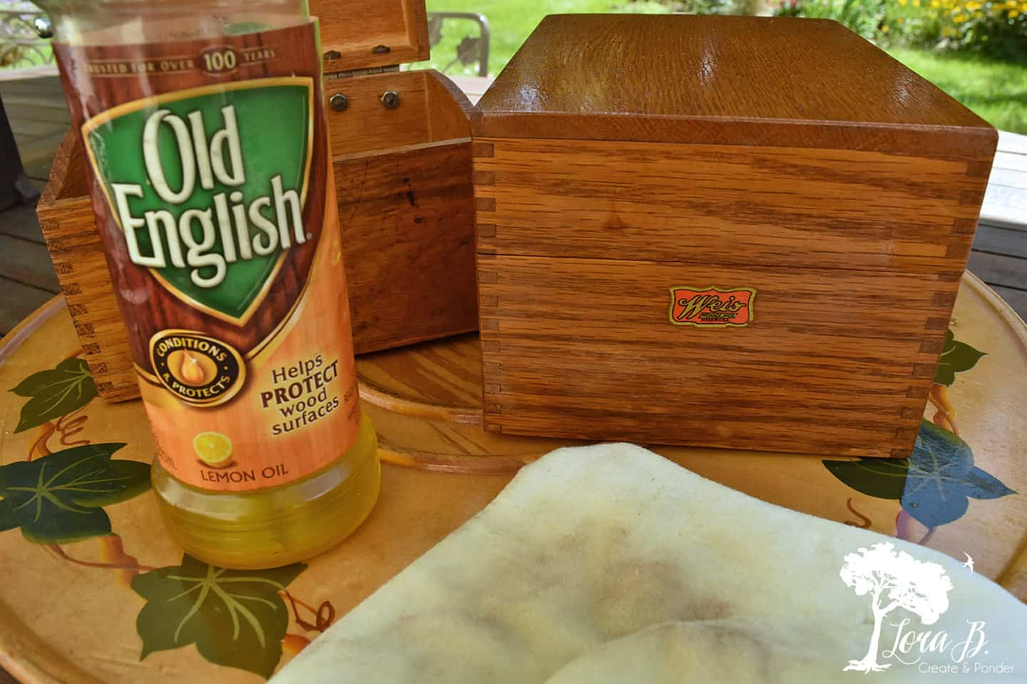 Old wood recipe boxes
