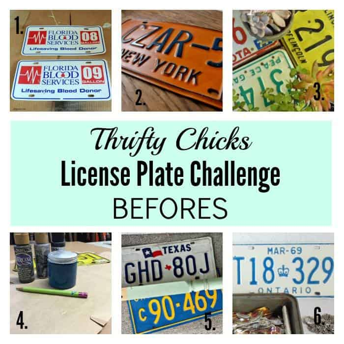 Thrifty Chicks License Plate Challenge Befores