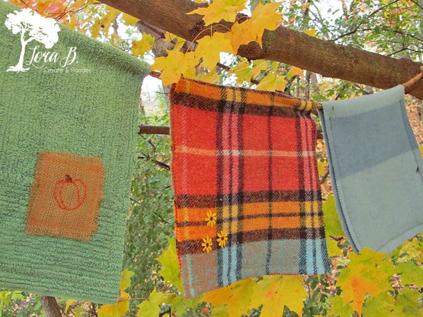 Repurposed Wool Blanket Bunting How To