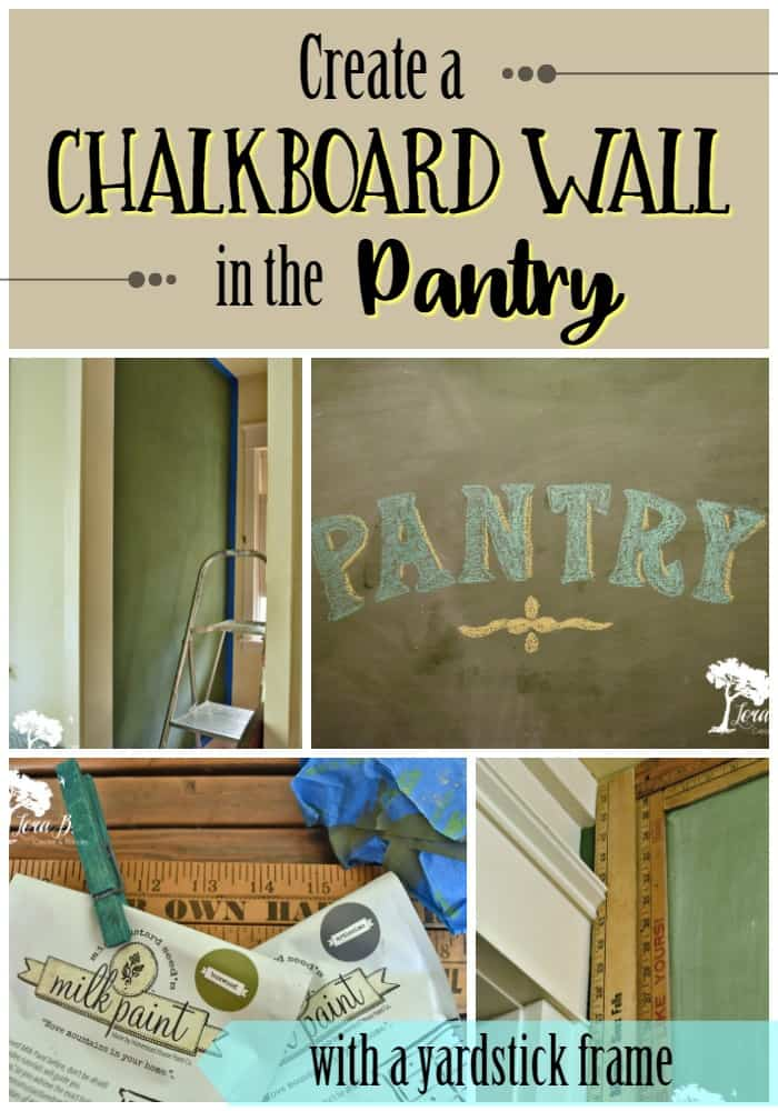 Chalkboard Wall in Pantry Pin