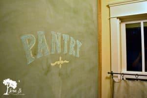 Pantry Chalkboard Wall