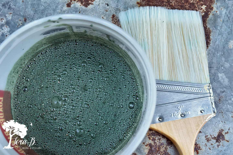 Miss Mustard Seed's Milk Paint mixture creates a chalkboard paint.