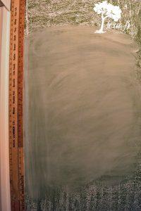 Chalkboard Wall in Pantry