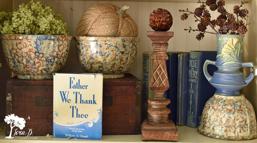 Blue vintage pottery