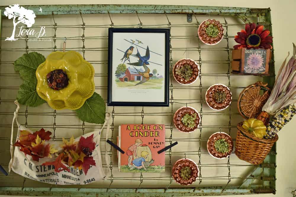 Fall Bedspring Display