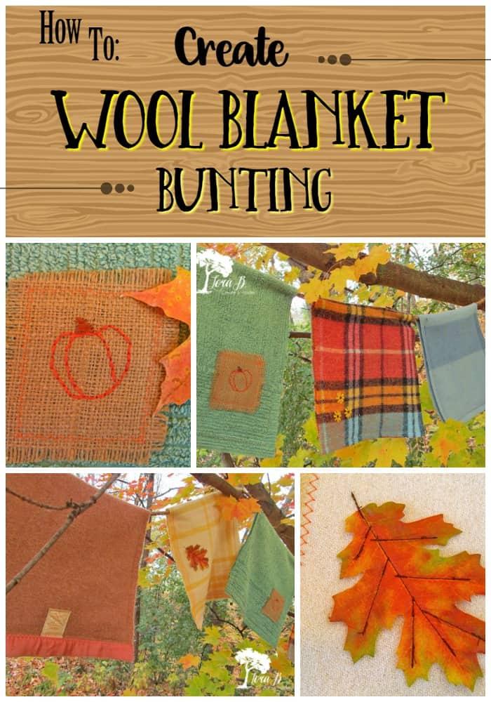 Wool Blanket Bunting Pin