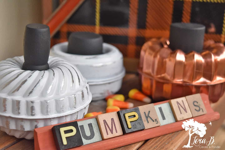 Repurposed Tart Mold Pumpkins How-To