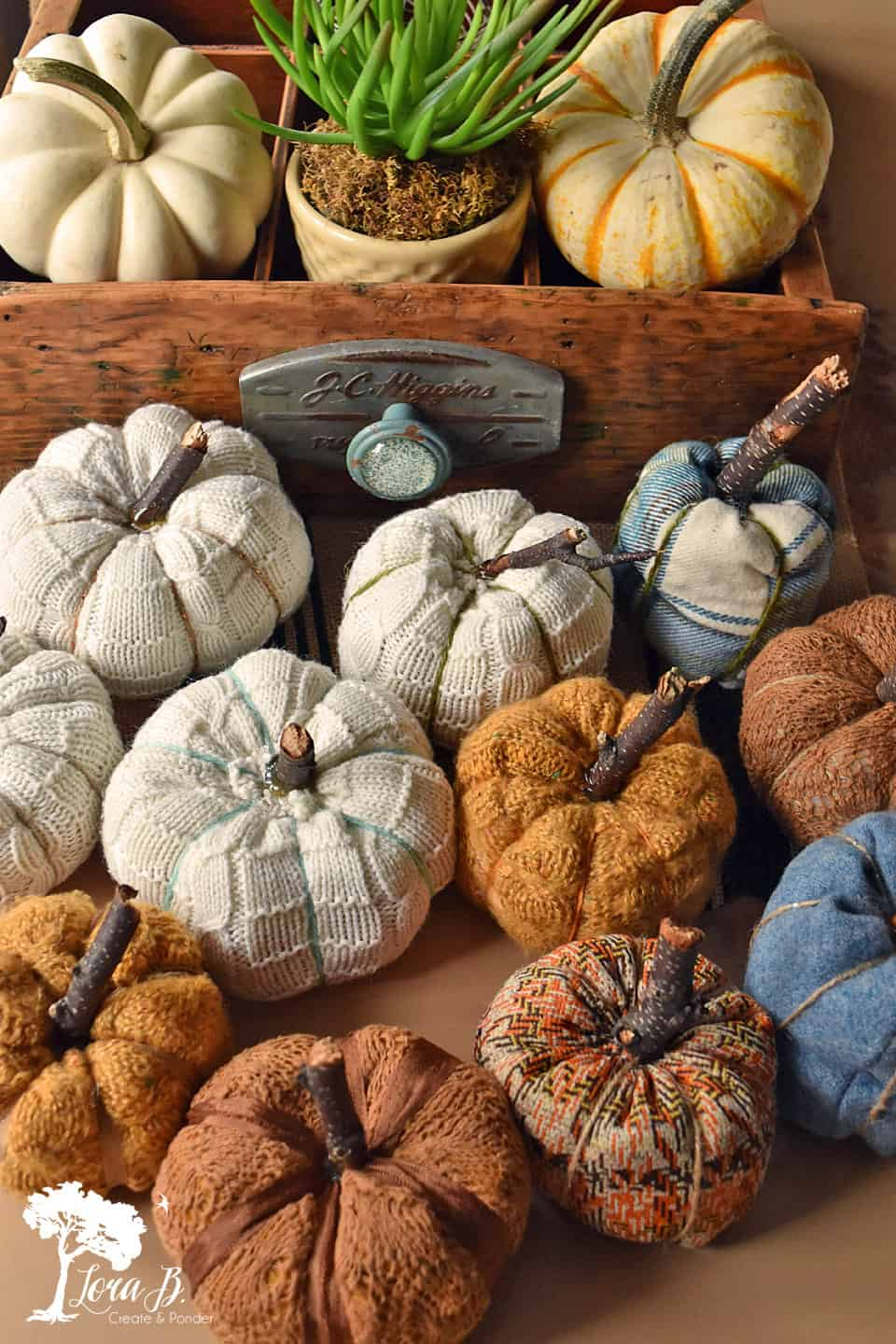 Sweater and Fabric Pumpkin how-to