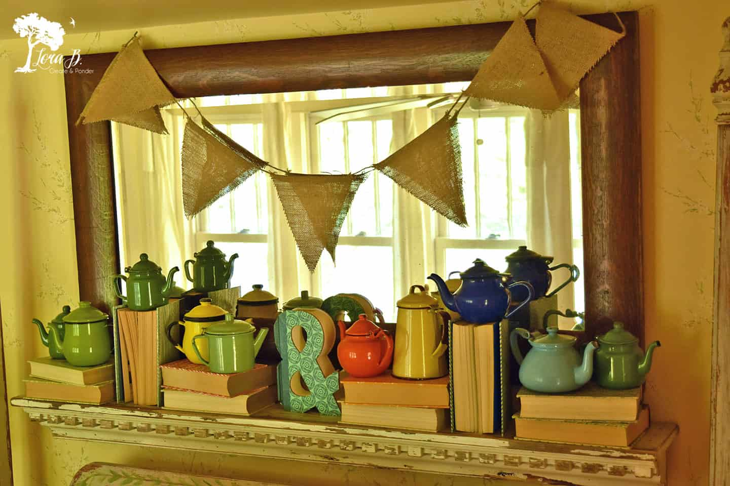 Enamelware Teapot display