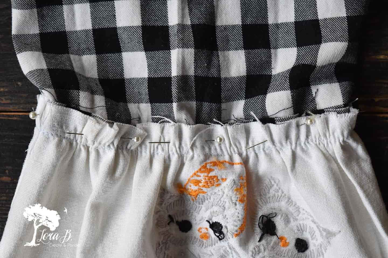 Vintage linen flouncy sleeve