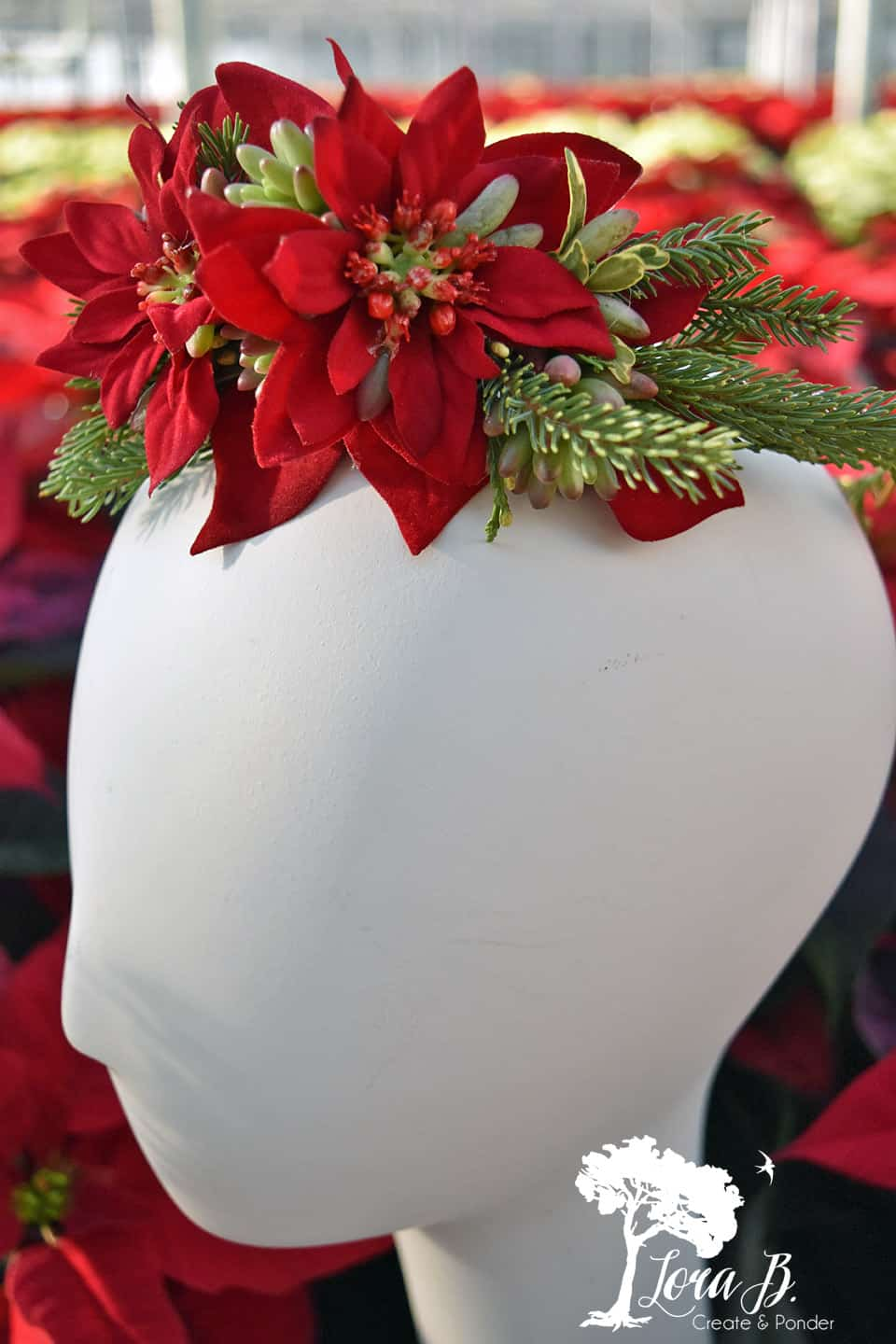 Poinsettia crown.