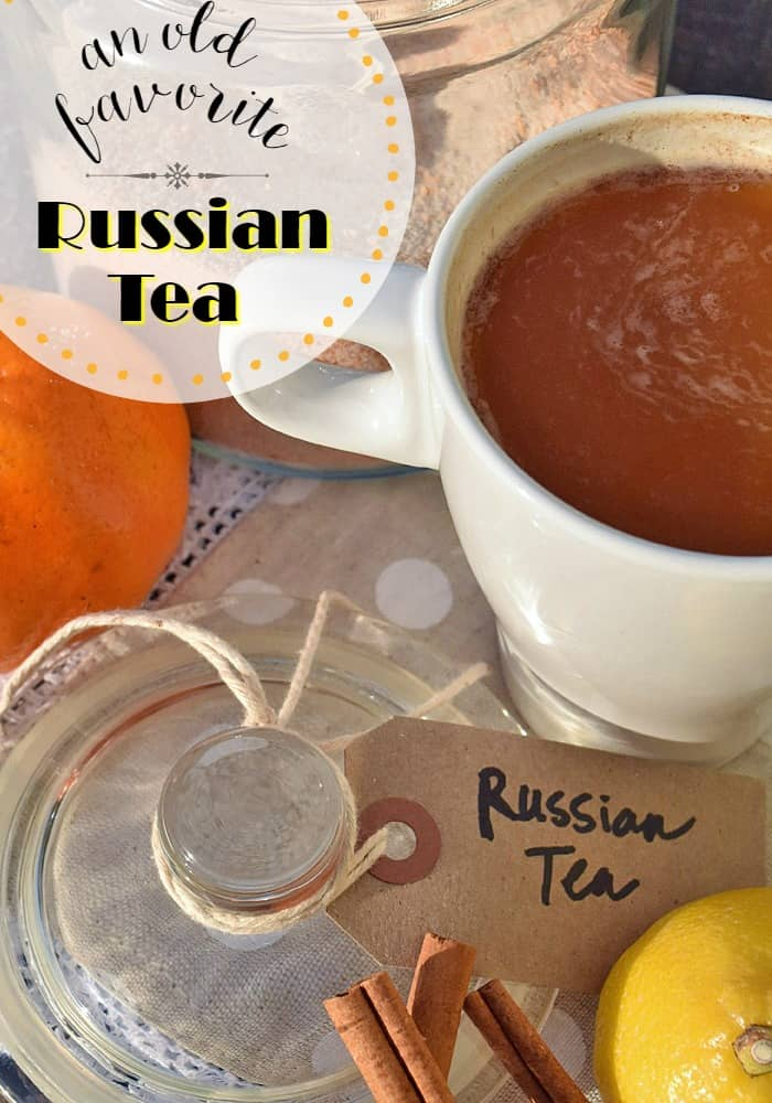 Russian Tea hot beverage drink mix.