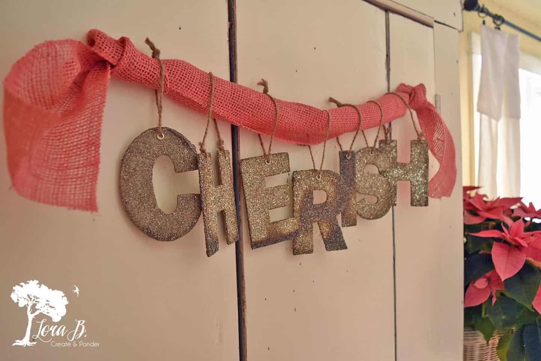 Cherish hanging letters