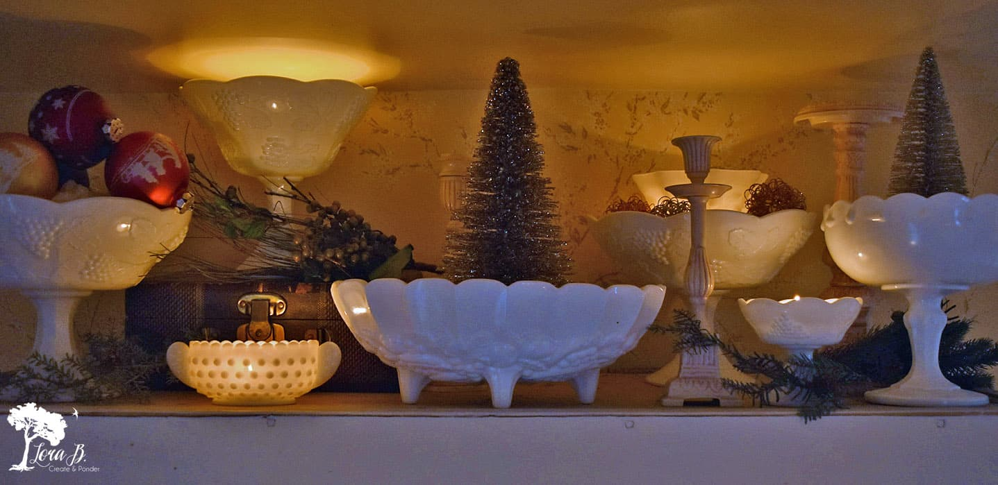 Milkglass Christmas decor